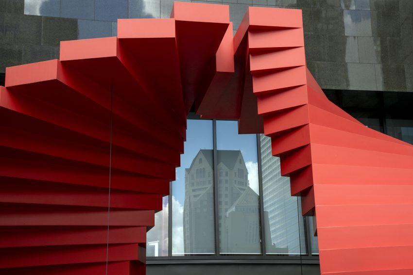 Sculpture moderne à Los Angelès, USA,  11 Mars 2020