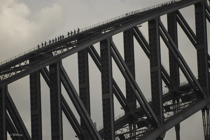 LE pont de Sydney, et ses travailleurs, Mars 2007