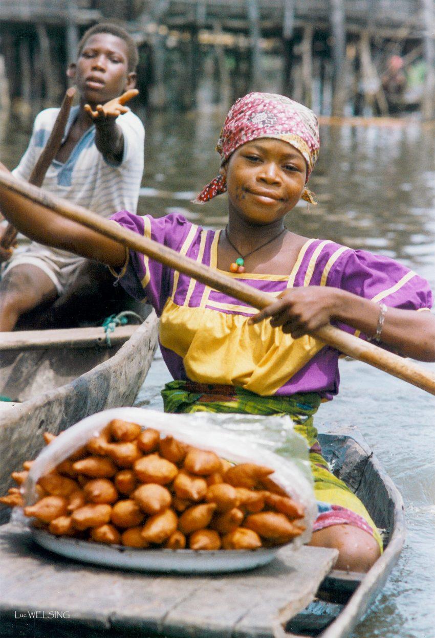 Marché lacustre, Ganvié, cotonou, Bénin, 1994