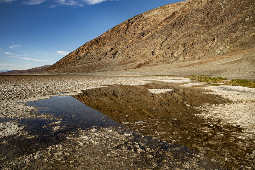 Bad Water Basin, 86 m sous le niveau de la mer. 